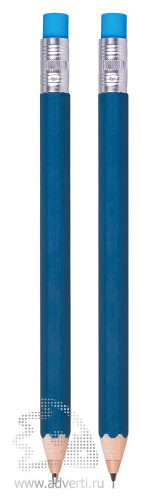 Набор «Даллас»: ручка и карандаш, синие