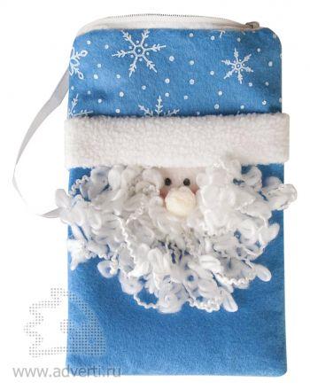Сумочка «Дед Мороз», синяя