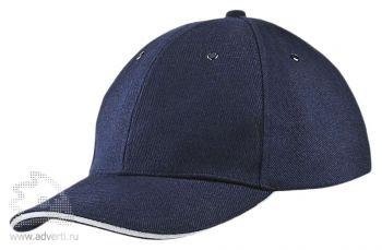 Бейсболка «Unit Generic», темно-синяя с белым
