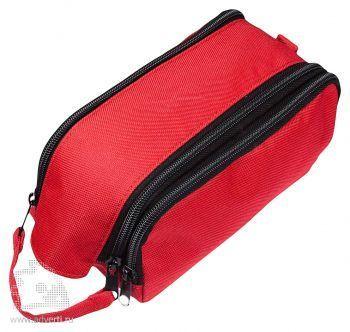 Вместительный несессер «Traveller», красный