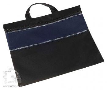 Конференц-сумка «Unit Folder», темно-синяя