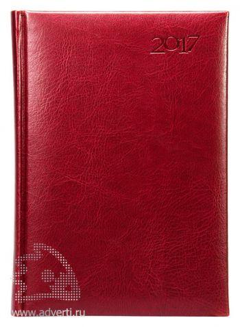 Ежедневники «Sevilia», бордовые, датированные