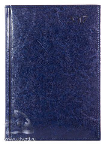 Ежедневники и еженедельники «Rich», синие, на обложке 2017