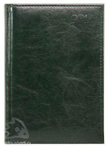 Ежедневники и еженедельники «Rich», зеленые, на обложке 2017