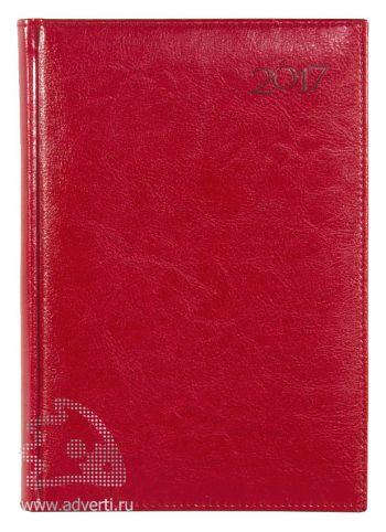 Ежедневники и еженедельники «Rich», красные, на обложке 2017