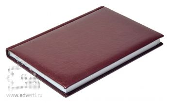 Ежедневники «Image», бордовые, вид сбоку
