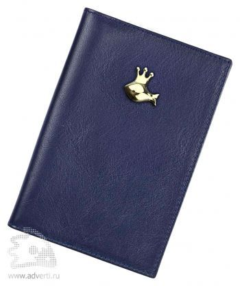 Обложка для автодокументов «Золотая рыбка», синий