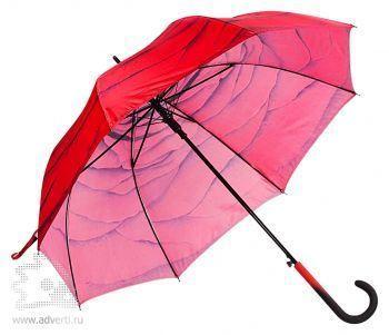 Зонт-трость «Роза», полуавтомат, общий вид