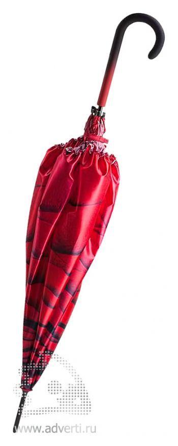 Зонт-трость «Роза», полуавтомат, дизайн трости