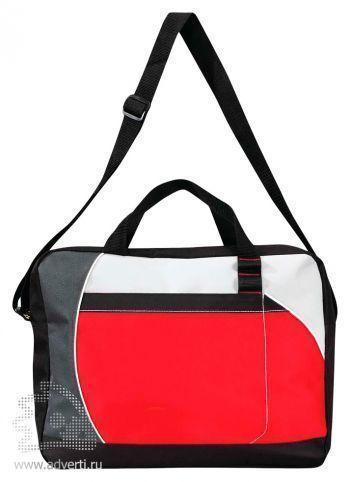 Конференц-сумка «Atchison Curve», красная