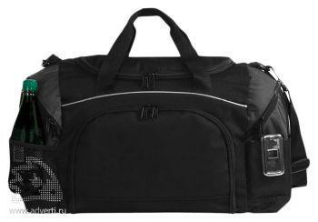 Спортивная сумка «Atchison Essential», черная с серым