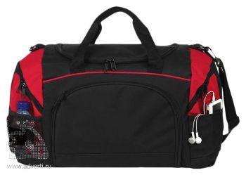 Спортивная сумка «Atchison Essential», черная с красным