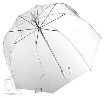 Зонт-трость прозрачный, полуавтомат, вид сверху