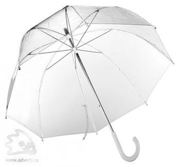 Зонт-трость прозрачный, полуавтомат,