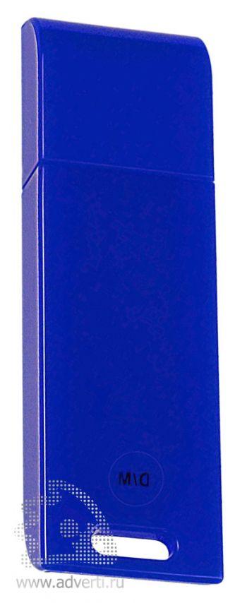 USB флеш карта «Blade», синяя, оборот