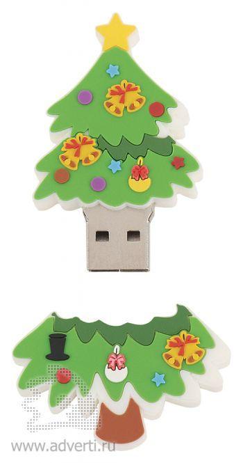 Набор с флеш-картой USB 2.0 «Елка», открытая