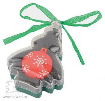 Набор с флеш-картой USB 2.0 в виде елочной игрушки, красная