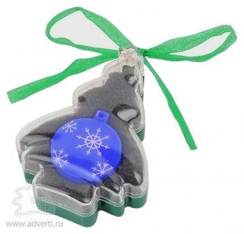 Набор с флеш-картой USB 2.0 в виде елочной игрушки, синяя
