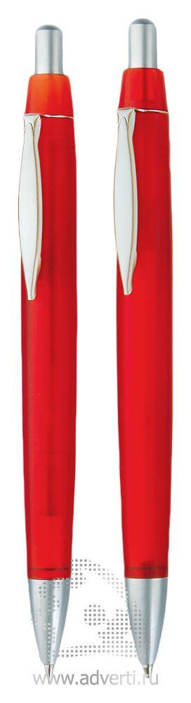 Шариковая ручка и автокарандаш из набора «Танго», красные