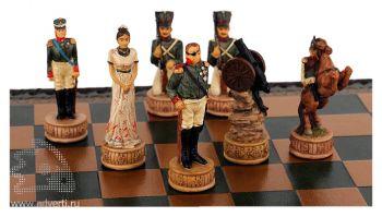 Сувенирные шахматы «Бородино», примеры фигурок