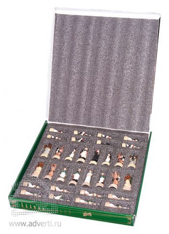 Сувенирные шахматы «Бородино», фигурки в коробке