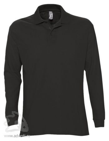 Рубашка поло с длинным рукавом  «Star 170», мужская, черная