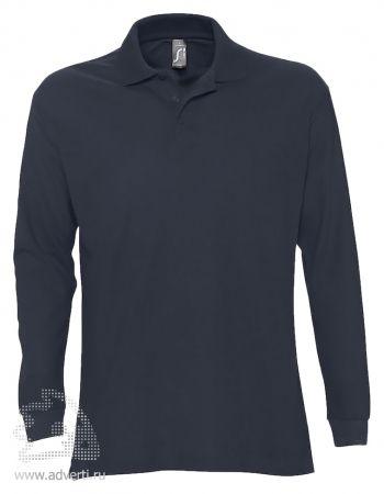 Рубашка поло с длинным рукавом  «Star 170», мужская, темно-синяя