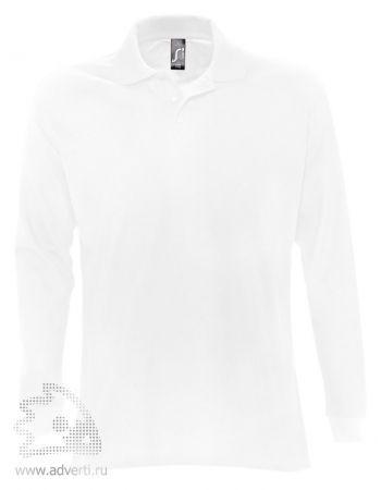 Рубашка поло с длинным рукавом  «Star 170», мужская, белая