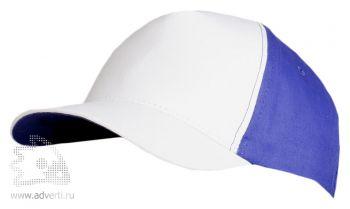 Бейсболка «Unit Pro», белая с синим