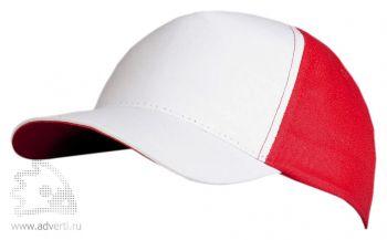Бейсболка «Unit Pro», белая с красным