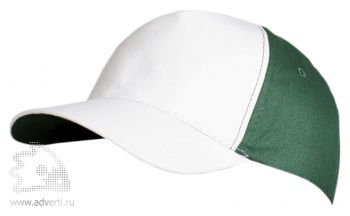 Бейсболка «Unit Pro», белая с зеленым