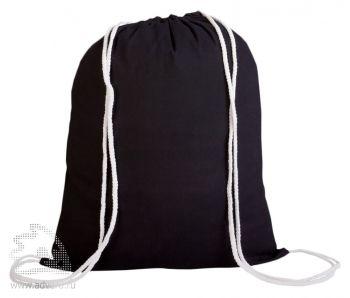 Промо-рюкзак «Canvas» из натуральной ткани, черный