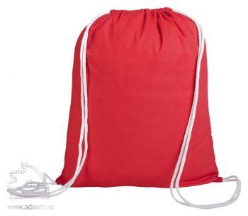 Промо-рюкзак «Canvas» из натуральной ткани, красный