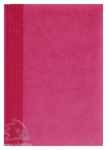 Ежедневники «Velvet», розовые