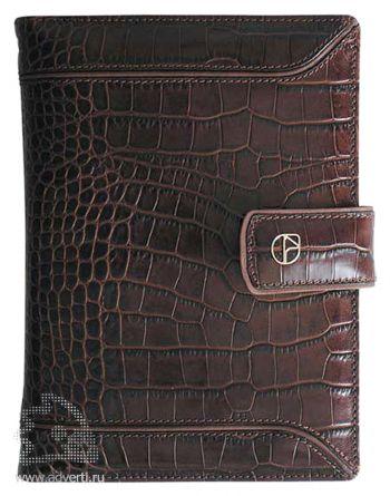 Ежедневник-портфолио «Croco premium», коричневый
