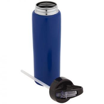 Спортивная бутылка «Moist», синяя, в открытом виде