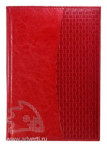 Ежедневники комбинированные «Rich Texas», красные