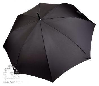 Зонт-трость Bugatti «Sport», полуавтомат, черный