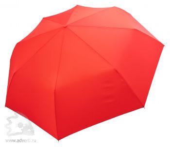 Зонт «Unit Comfort», полуавтомат, 3 сложения, красный