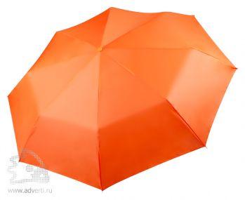 Зонт «Unit Basic», механический, 3 сложения, оранжевый