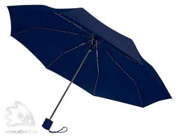 Зонт «Unit Basic», механический, 3 сложения, темно-синий