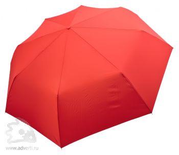 Зонт «Unit Basic», механический, 3 сложения, красный