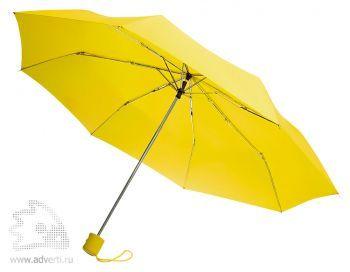 Зонт «Unit Basic», механический, 3 сложения, желтый