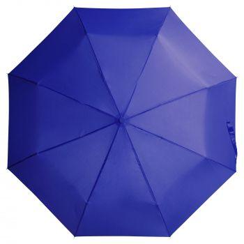 Зонт «Unit Basic», механический, 3 сложения, синий, купол