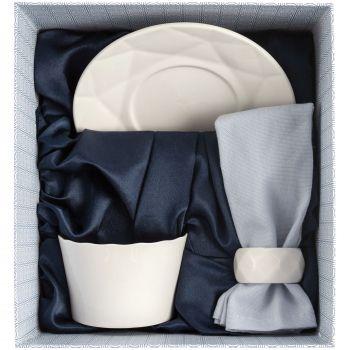 Набор Diamante Bianco на 1 персону, малый, в коробке, вид сверху