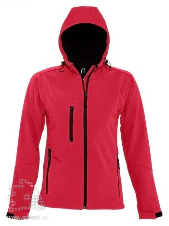 Куртка с капюшоном «Replay Women 340», женская, красная