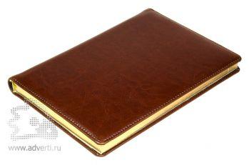 Ежедневники и еженедельники «Malaga», коричневые, золотой обрез