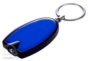 Брелок «Vivid» с LED фонариком, синий, оборот