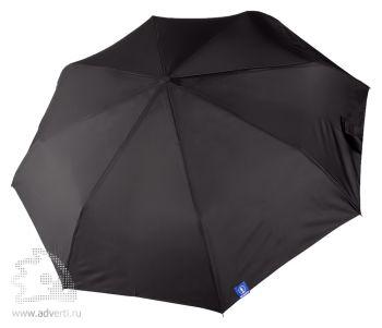 Зонт «Wind & Rain», полуавтомат, 3 сложения, черный