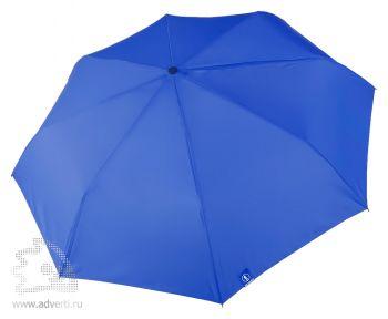 Зонт «Wind & Rain», полуавтомат, 3 сложения, сииний